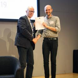 Will Hawkins awarded a prize at the IABSE Future of Design conference
